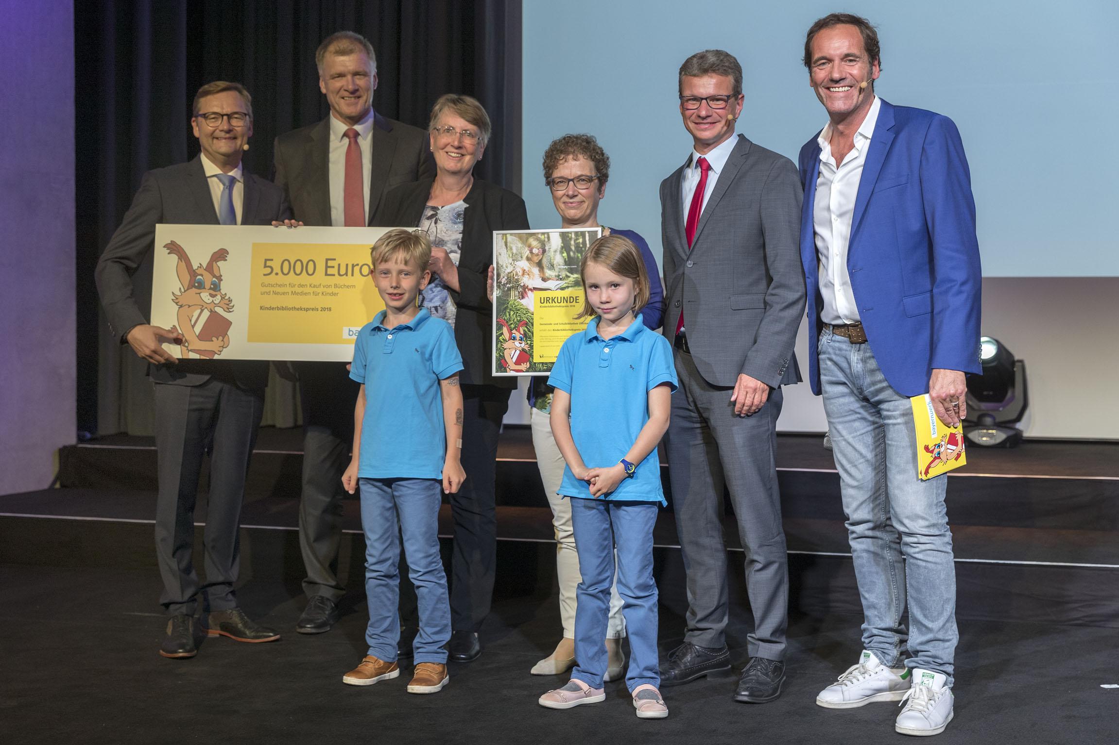 Verleihung Kinderbibliothekspreis 2018 Gemeinde- und Schulbibliothek Oberhaching Bayernwerk AG Aurelium Lappersdorf Foto: altrofoto.de