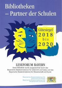 Gütesiegel 2018 bis 2020